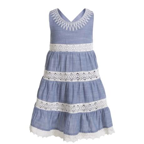 KAISELY Crisscross Strap Multi-Tier Dress - Sleeveless (For Toddler Girls)