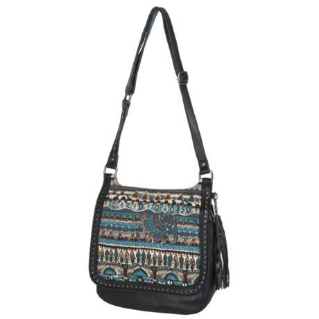 Sakroots Artist Circle Flap Crossbody Bag - Leather (For Women)