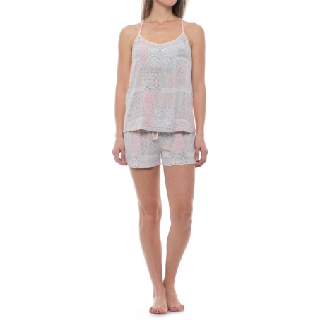 Ink+Ivy T-Back Tank Top and Shorts Pajamas - Shelf Bra (For Women)