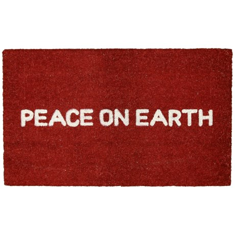 Momeni Peace On Earth Doormat - 18x30""