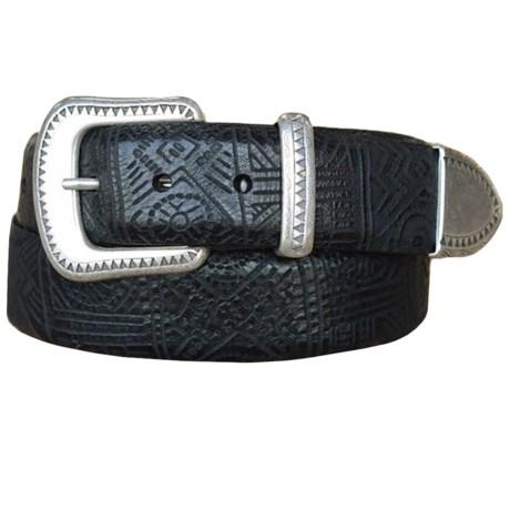 Lejon Aztec-Inspired Belt - Steerhide Leather (For Men)