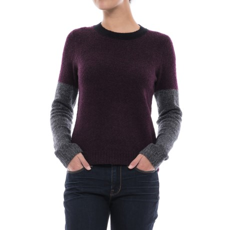 Lilla P Color-Block Boucle Sweater (For Women)