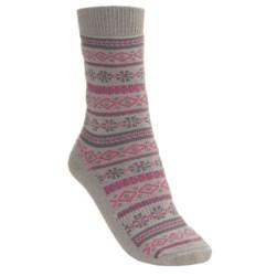 Lorpen Fairisle Socks - Modal- Cotton (For Women)