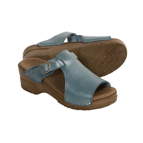Sanita Dicte Metallic Slide Sandals (For Women)