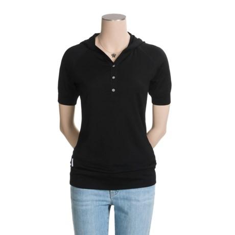 Icebreaker Rio Hooded Shirt - Merino Wool, Short Sleeve (For Women)