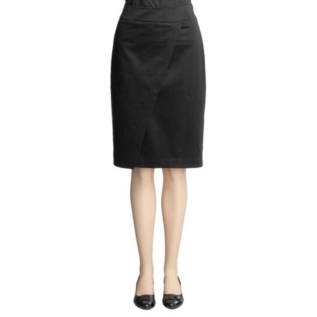 Magaschoni Collection Stretch Cotton Skirt - Overlap Front (For Women)