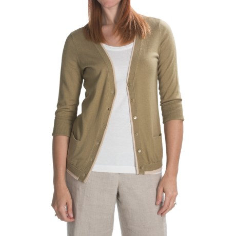 Magaschoni Cotton Cardigan Sweater (For Women)