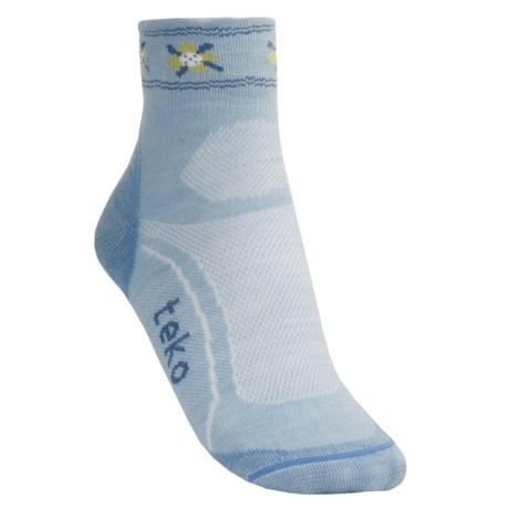 Teko tekoMERINO Ultralight Running Socks - Organic Merino Wool, Ankle (For Women)