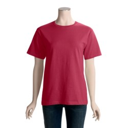 Hanes ComfortSoft Cotton T-Shirt - Short Sleeve (For Women)