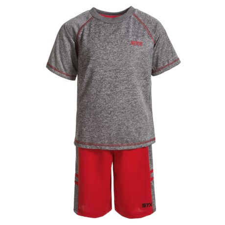 STX T-Shirt and Shorts Set - Short Sleeve (For Little Boys)