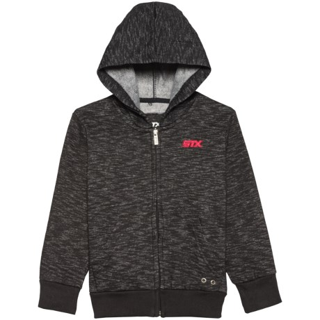 STX Solid Embroidered Zip-Up Jacket (For Little Boys)