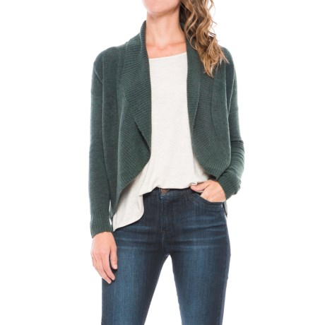 Lilla P Rounded Open Cardigan Sweater (For Women)