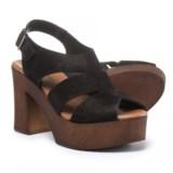 Eric Michael Sienna Platform Sandals - Suede (For Women)