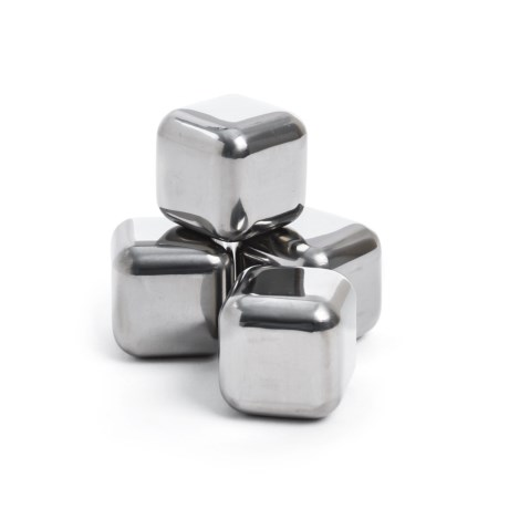 Sparq Home SPARQ Home Whiskey Hand-Polished Steel Cubes - Set of 4
