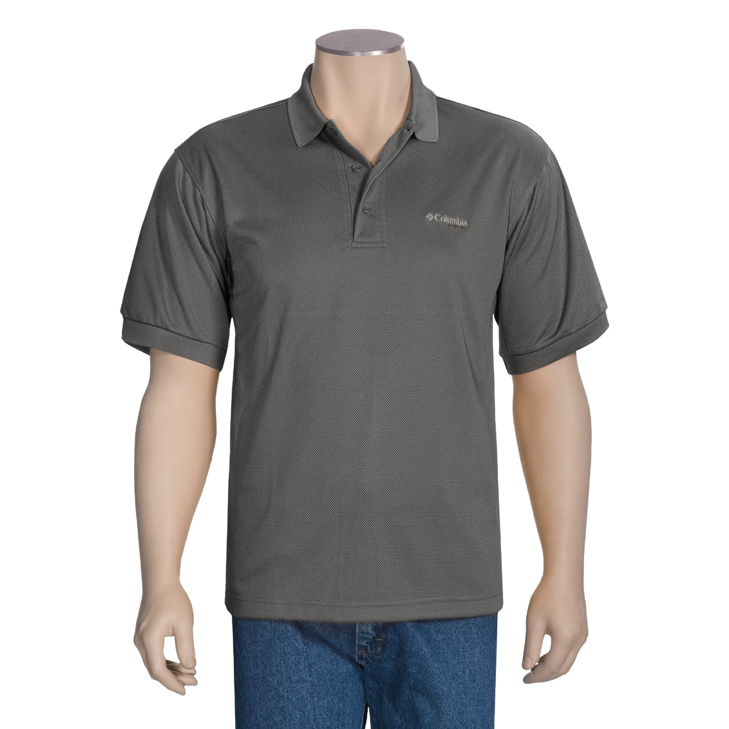 Columbia sportswear pfg perfect cast polo shirt short for Big and tall fishing shirts