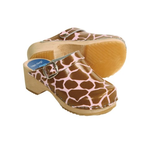 Cape Clogs Giraffe Clogs - Moveable Strap (For Girls)