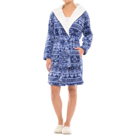 Catherine Catherine Malandrino Catherine Malandrino Fair Isle Plush Fleece Robe - Long Sleeve (For Women)