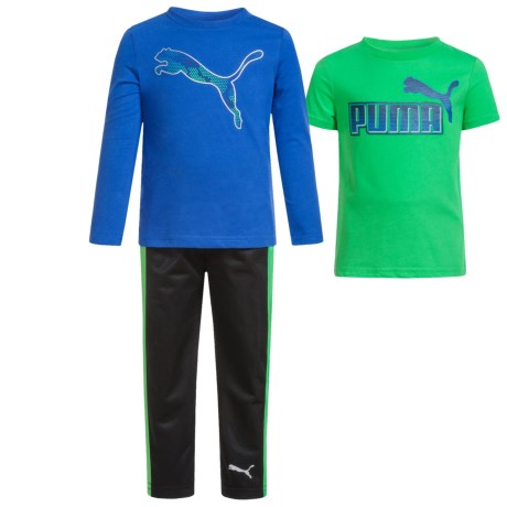 Puma Two T-Shirts and Tricot Pants Set - 3-Piece (For Toddlers)