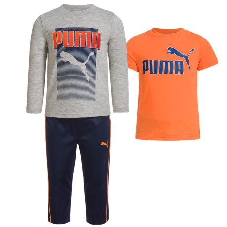 Puma Two Shirts and Pants Set - 3-Piece (For Infants)
