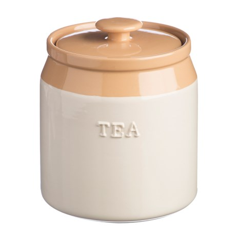 Rayware Group Cash Cane Collection Stoneware Tea Canister - 40.5 oz.