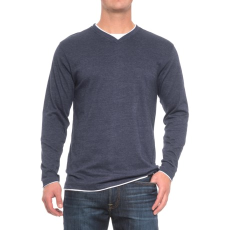 Cactus V-Neck Shirt - Long Sleeve (For Men)