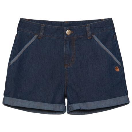 Carhartt Denim Shorts (For Little Girls)