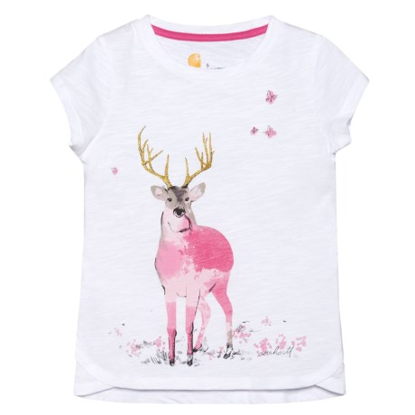 Carhartt Meadow Deer T-Shirt - Short Sleeve (For Little Girls)