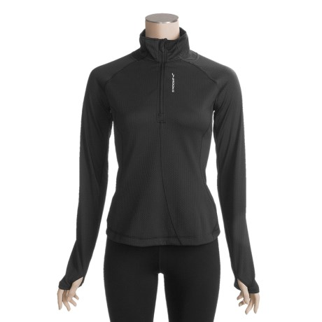 Brooks Podium Shirt - Zip Neck, Long Sleeve (For Women)