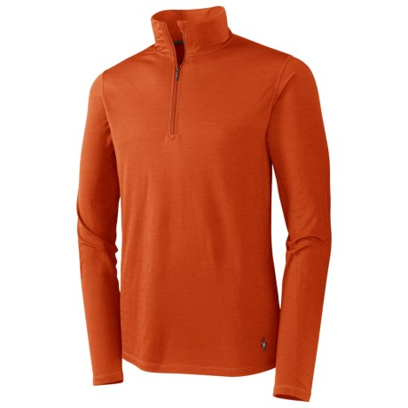 SmartWool Microweight Zip Neck Top - Merino Wool, Base Layer, Long Sleeve (For Men)
