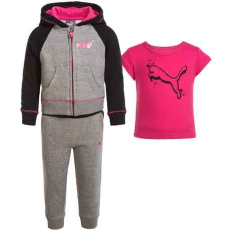 Puma Fleece Hoodie, Shirt and Pants Set (For Toddlers)