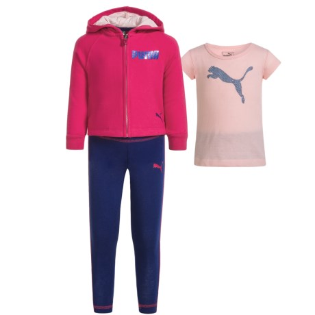 Puma Fleece Hoodie, Shirt and Leggings Set (For Toddlers)
