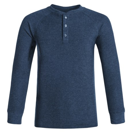 French Toast Thermal Henley Shirt - Long Sleeve (For Big Boys)