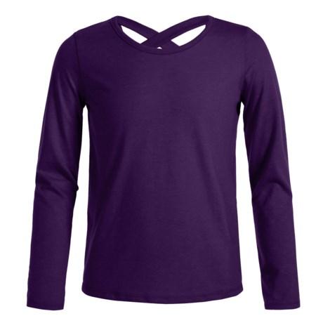 French Toast X-Back Shirt - Long Sleeve (For Big Girls)
