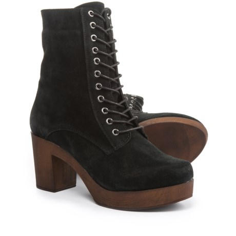 Eric Michael Victoria Lace-Up Boots - Suede (For Women)