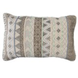 Loloi Woven Embroidered Decor Pillow - 13x21""