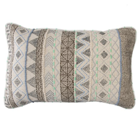 "Loloi Woven Embroidered Decor Pillow - 13x21"""