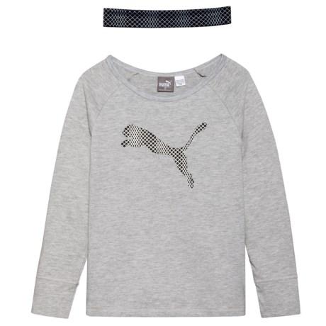Puma T-Shirt and Headband Set - Long Sleeve (For Little Girls)