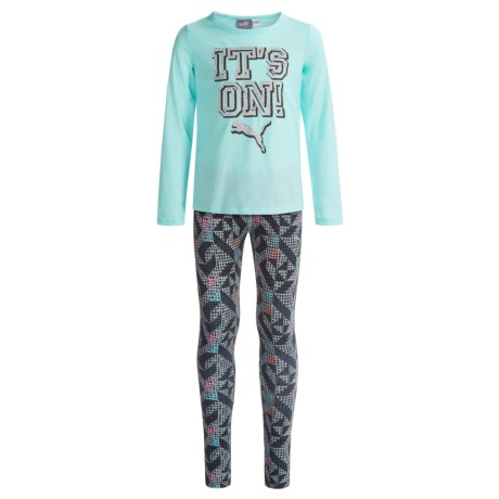 Puma Shirt and Leggings Set - 2-Piece, Long Sleeve (For Little Girls)