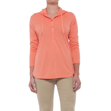 Dickies Henley Hoodie - 3/4 Sleeve (For Women)