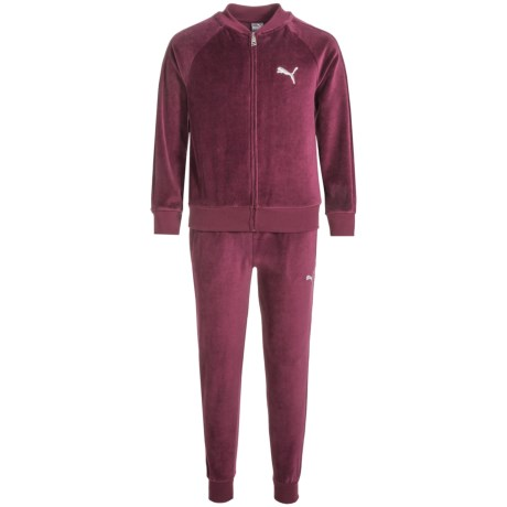 Puma Velour Hoodie and Pants Set (For Big Girls)