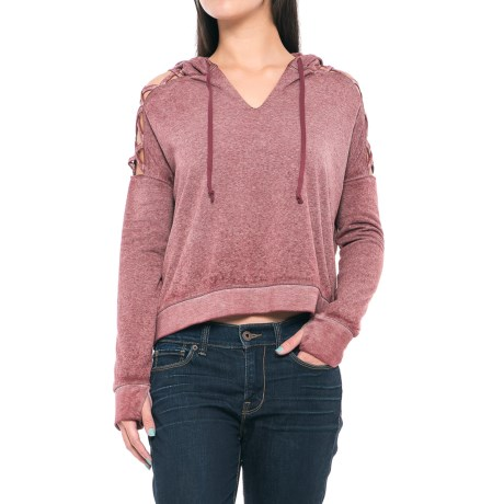 Threads 4 Thought Hazel Cropped Hoodie - Organic Cotton Blend (For Women)
