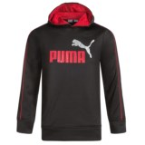 Puma Logo Fleece Hoodie (For Boys)