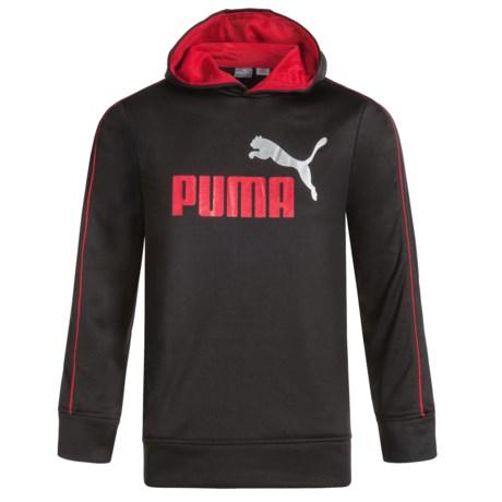 Puma Logo Fleece Hoodie (For Boys)