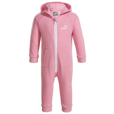 Puma Fleece Hooded Jumpsuit - Long Sleeve (For Infant Girls)