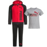 Puma Hoodie, T-Shirt and Sweatpants Set - 3-Piece (For Little Boys)
