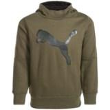 Puma Fleece Logo Hoodie (For Little Boys)