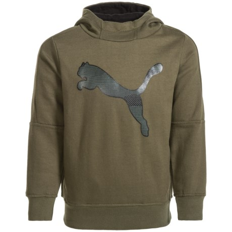 Puma Fleece Logo Hoodie (For Little Boys)