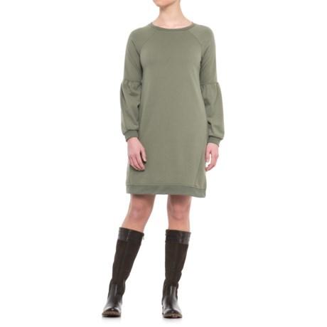 CG Cable & Gauge Bell Sleeve Sweatshirt Dress - Long Sleeve (For Women)
