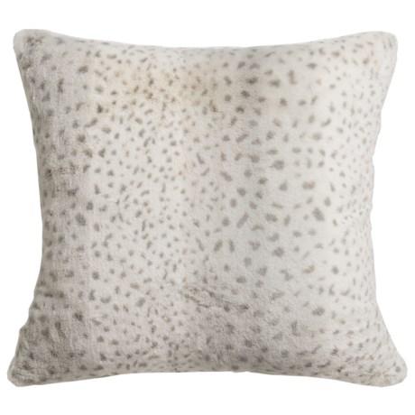 "Max Studio Koda Winter Leopard Decor Pillow - 20x20"""