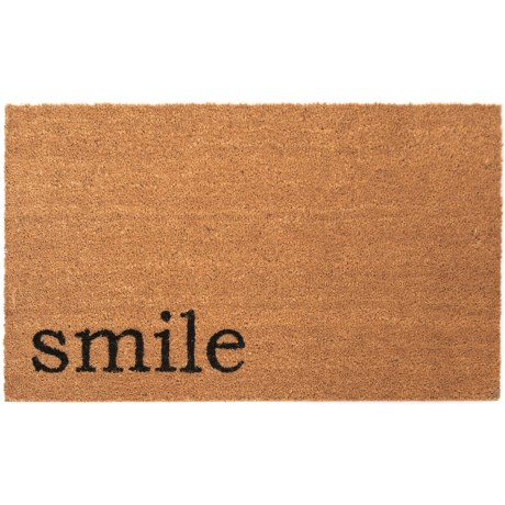 Madison Home Smile Coir Doormat - 20x34""